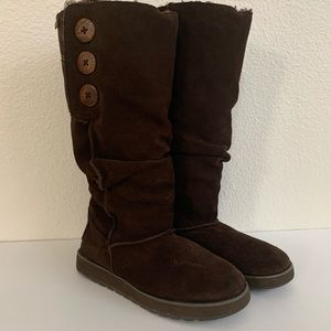 Skechers Slouchy Brown Winter Boots